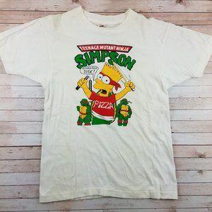 VTG 90s TMNT Bart Simpson Mashup Tee Shirt